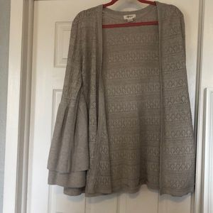 Style & Co Bell Sleeved Cardigan w/ Cutouts